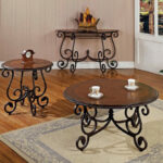 steve silver company crowley cherry metal accent table set end tables marble wood coffee livingroom side pool umbrella stand oak stacking childrens garden furniture valley city 150x150