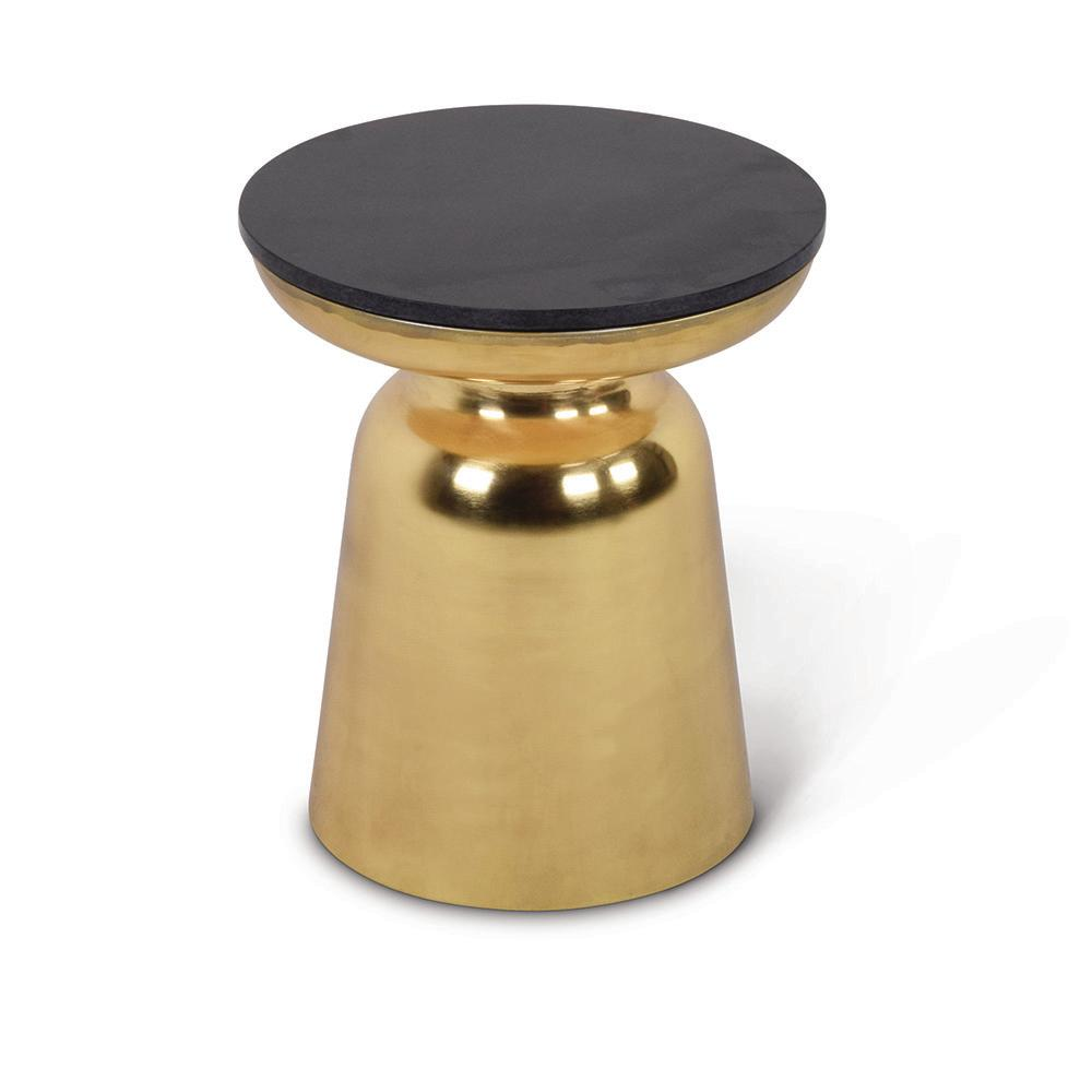 steve silver company jovana brass and granite round end table gold tables knox accent the fur furniture swing sets grey night nautical patio sofa set clearance antique leather top