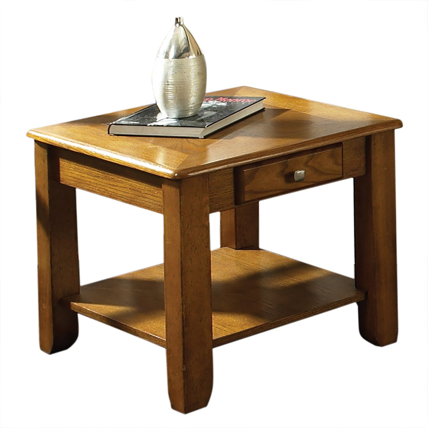 steve silver company nelson end table oak kitchen dining hawthorne glass top accent bronze corner furniture decorative chest folding wood coffee tiffany mission style lamps high