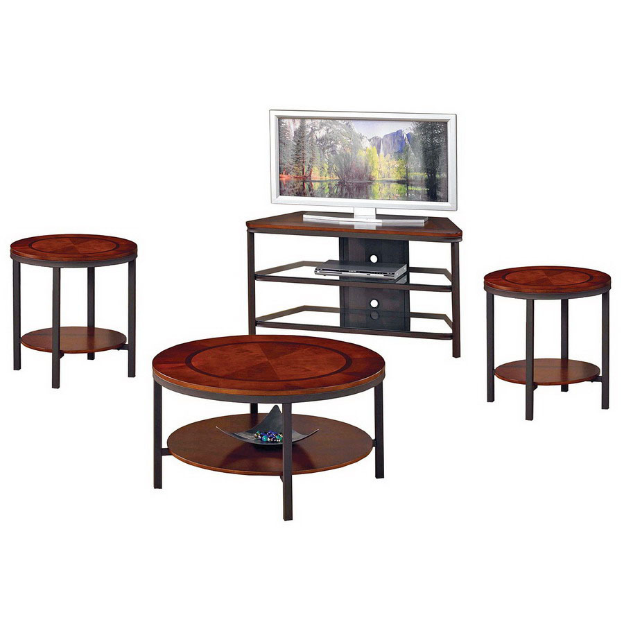 steve silver company trisha cherry metal accent table set ikea cube storage boxes barn style coffee with drawers hampton bay chaise lounge cushions square patio valley city