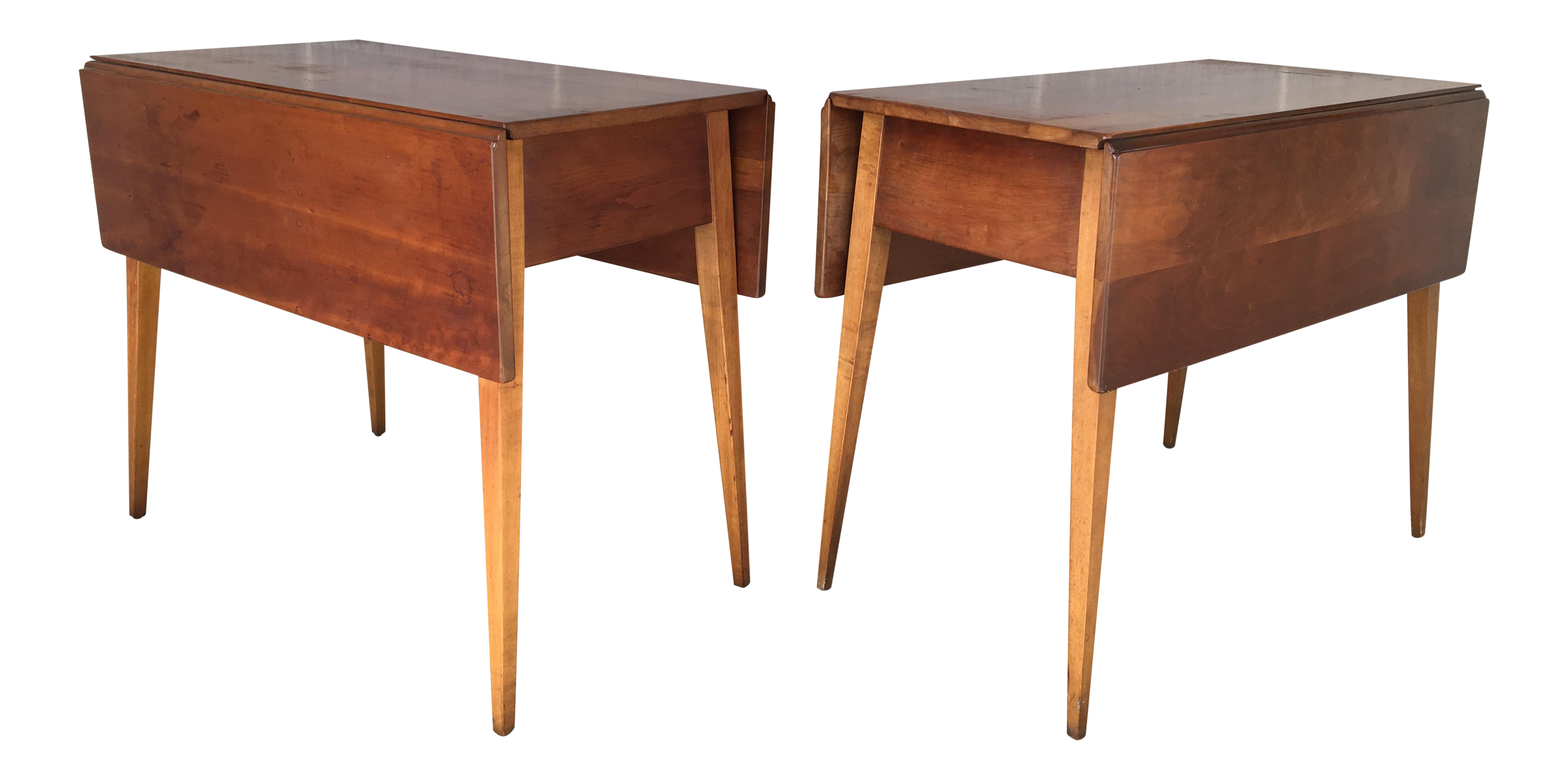 stickley cherry valley drop leaf accent tables pair chairish table dining with folding chairs small pedestal target teal cabinet ikea living room cabinets round counter height