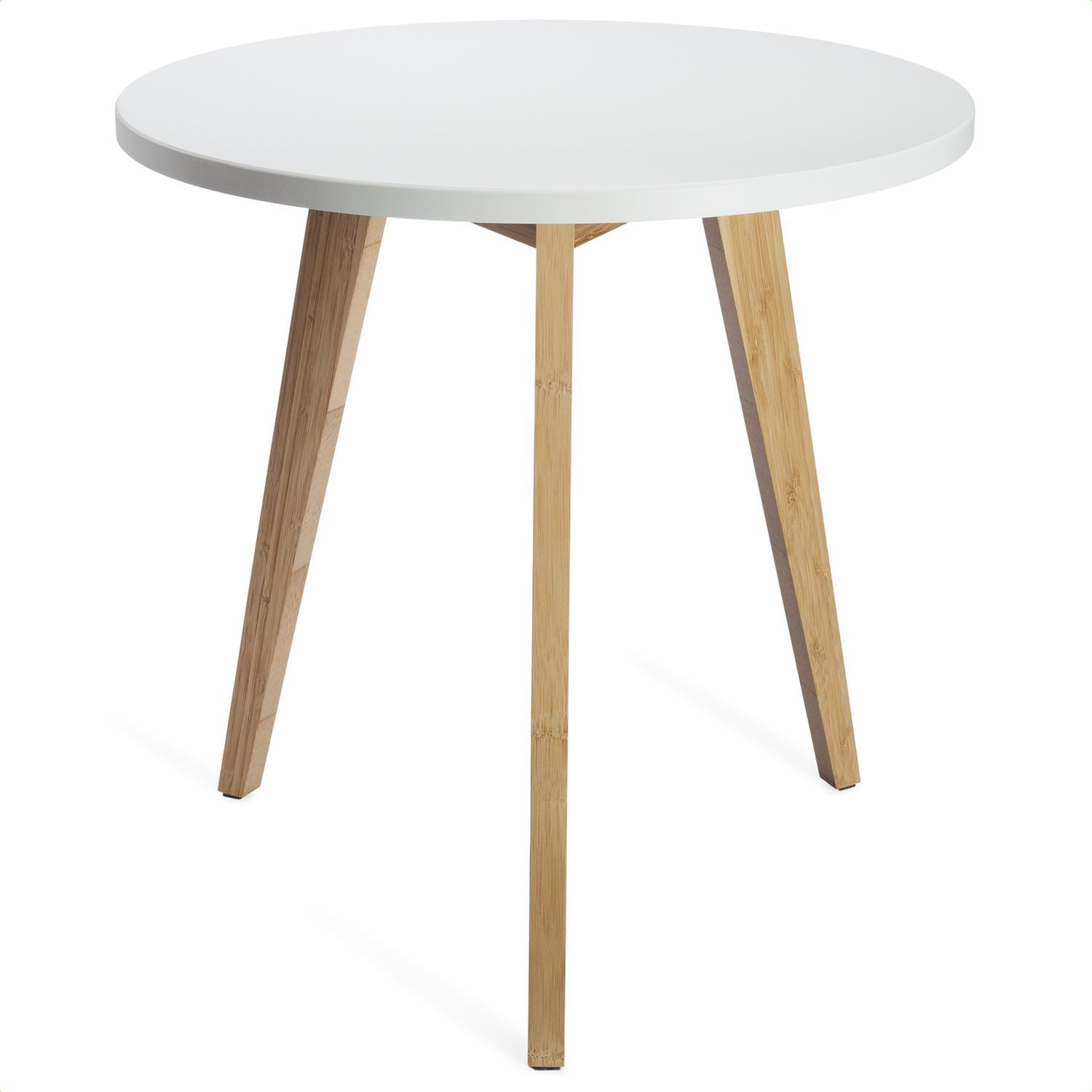 stndrd mid century modern end table perfect bedside faux wood accent nightstand living room side white round tabletop bamboo legs pack kitchen dining foyer lamps brown metal