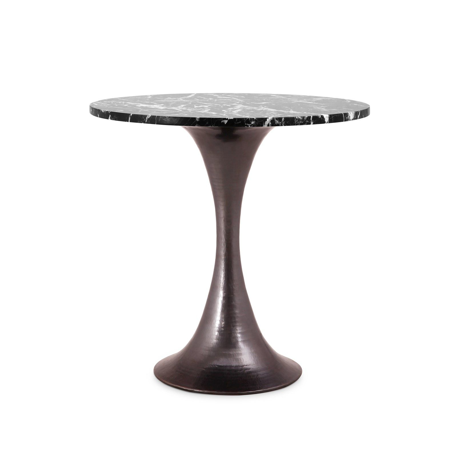 stockholm side table nero marquina marble top villa vici black bronze base timor wood trunk accent furniture and interior design resource new orleans legs tall white bookcase