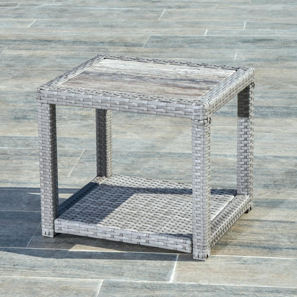 stone top side table metal end coffee comfort grey patio outdoor mosaic accent narrow sofas for small spaces lift folding rectangular marble dining drum parts clear acrylic garden