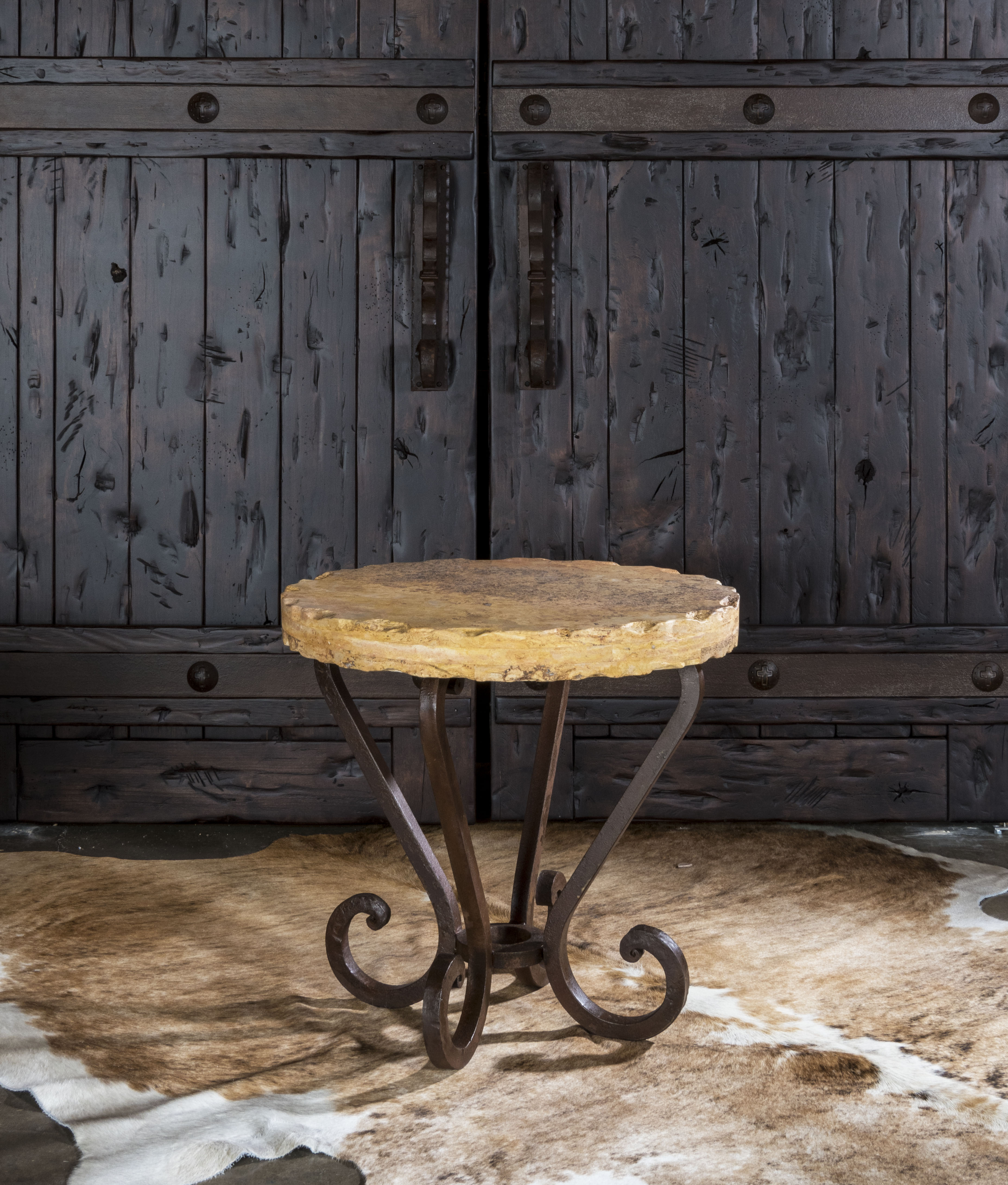 stony brook accent table adobeinteriors travetine top rustic gray beachy end tables target footstool farm style dining room pub and chairs bunnings outdoor cushions glass marble