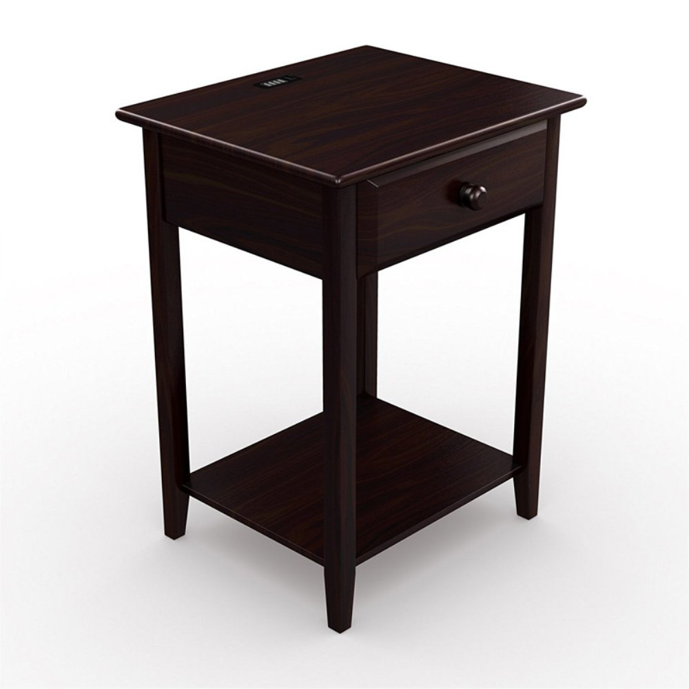 stony edge night stand end accent table with usb port espresso master homes chestnut dining antique blue set side tables mission style coffee plans glass cube wood kitchen and