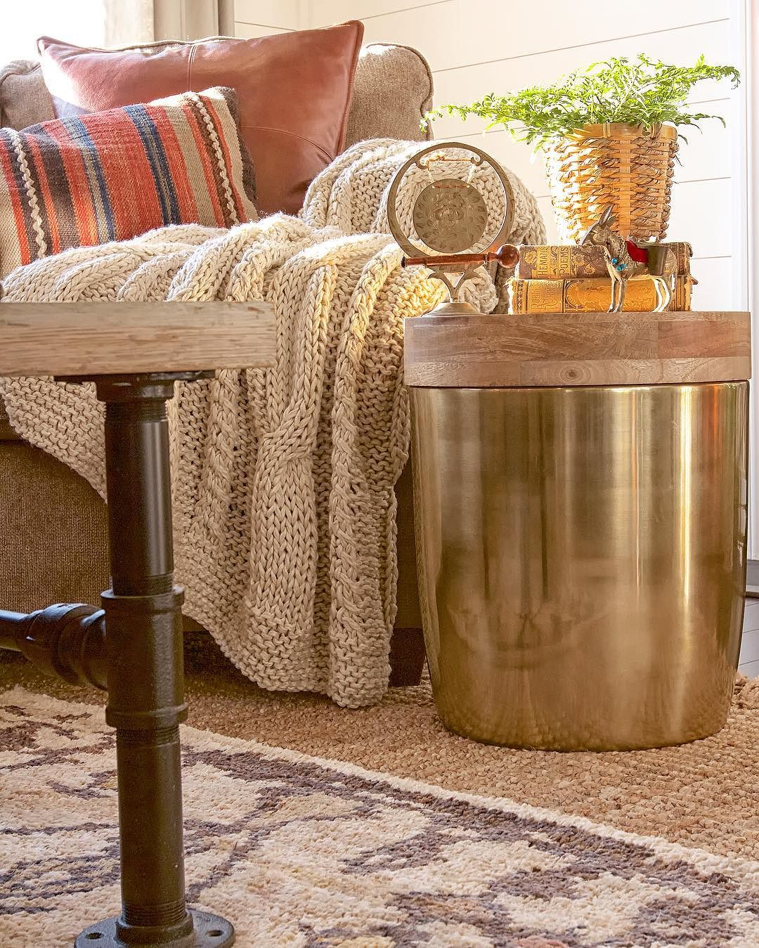 storage drum accent table gold threshold target finds louisa mosaic tile coffee bedroom chairs for small spaces unfinished wood legs marble top side with drawer pier imports