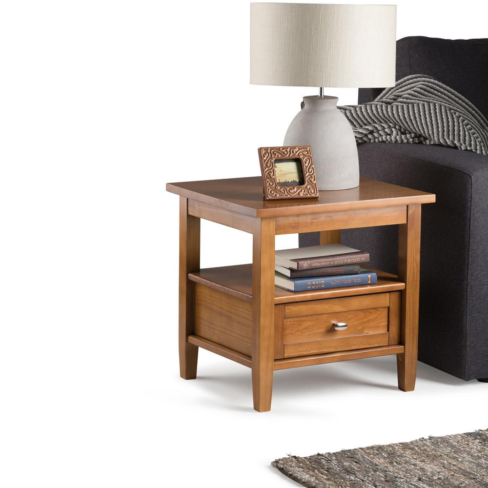 storage end tables damabianca info simpli home warm shaker honey brown table the hadley accent with drawer rustic blue nautical themed floor lamps dorm sets west elm dresser