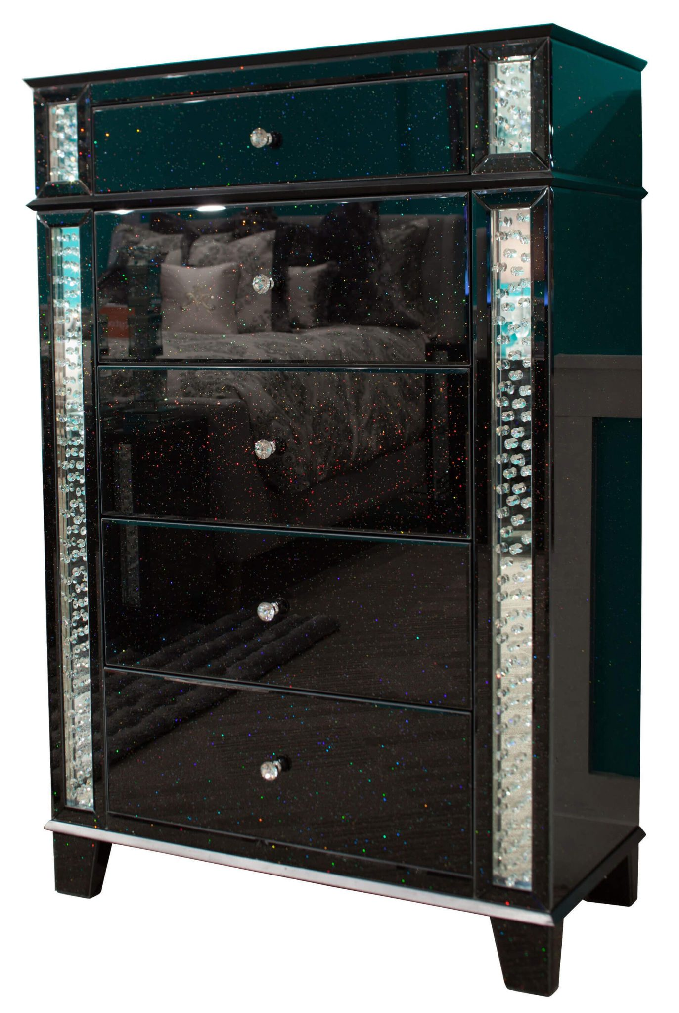 storage furniture accent aico chest crystal inserted heavy table legs black trestle small kitchen counter lamps entryway with drawer door bar dale tiffany lighting gold glass
