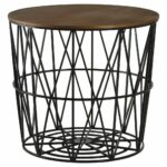storage metal thresholdtm wicker round silver threshold swivel patio target table white accent drum full size skinny side with drawer pottery barn pedestal height cloth cover 150x150