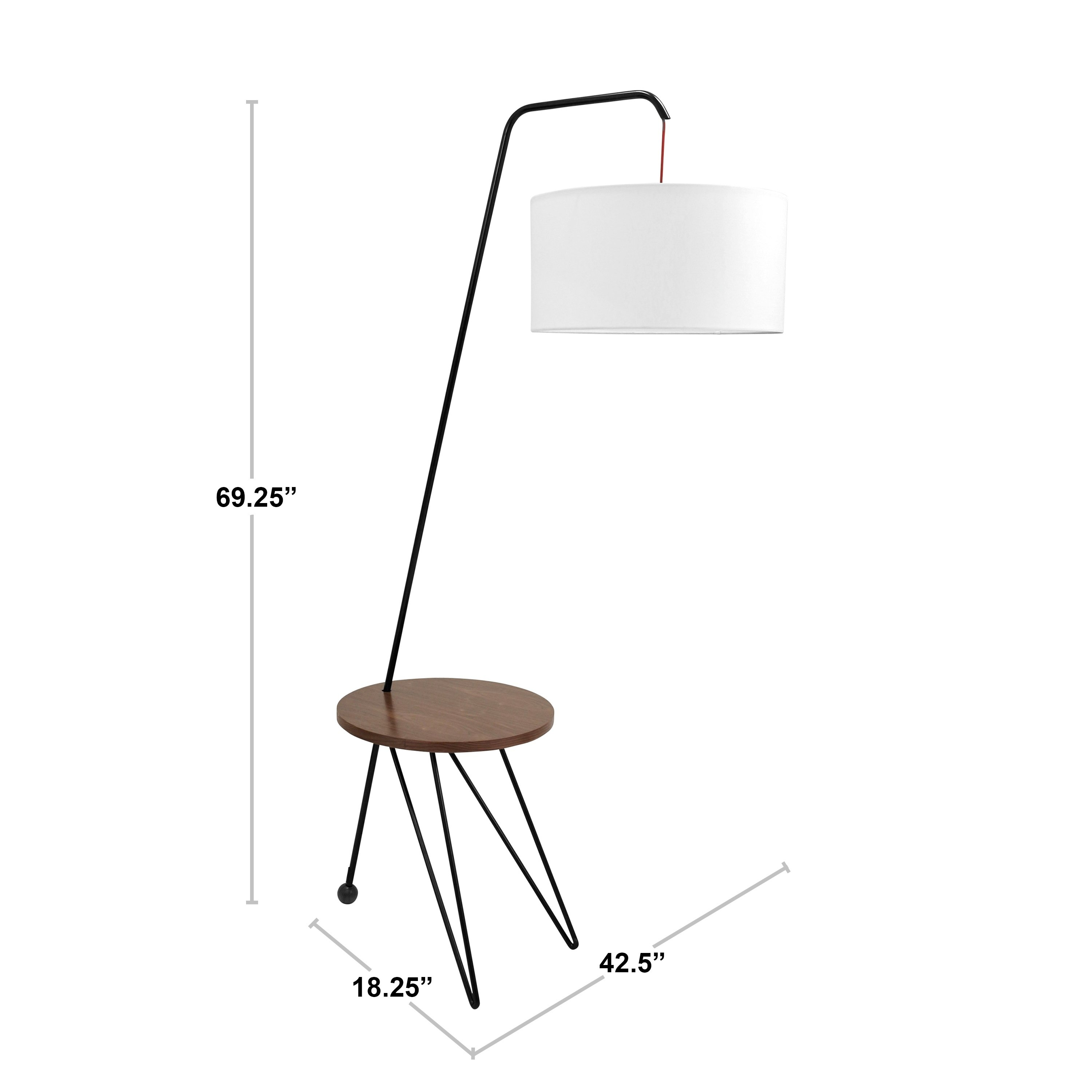 stork mid century modern floor lamp with walnut wood accent table free shipping today metal drum rustic end pottery barn replacement parts outdoor patio bench entryway rug