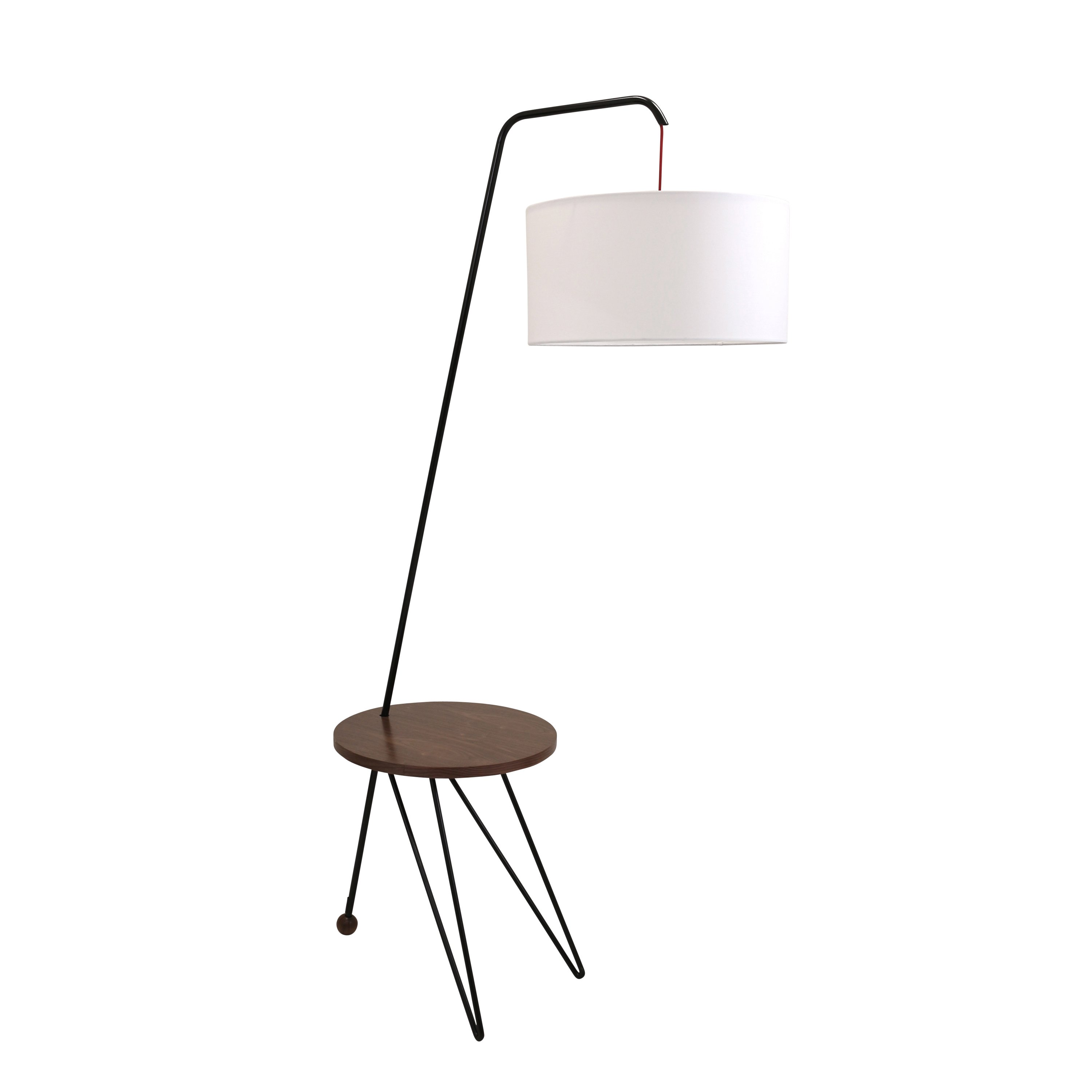 stork mid century modern floor lamp with walnut wood accent table tier target free shipping today bunnings outdoor couch tall narrow end high top stools round bistro ikea dining