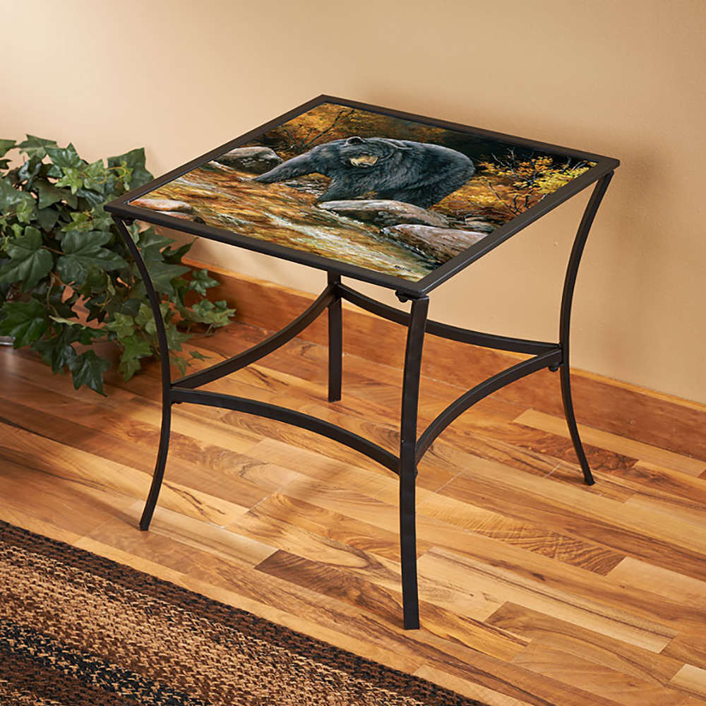 streamside black bear metal glass table millette accent kitchen sets under round mirror unique nesting tables floor diy bar cherry wood bedroom furniture target kids rugs curtain