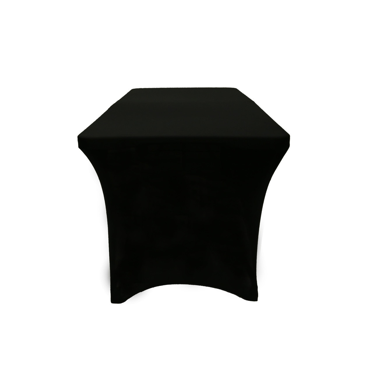 stretch spandex open back rectangular table cover black your side view outdoor covers small metal round resin patio vintage telephone new furniture accent tables edmonton grey