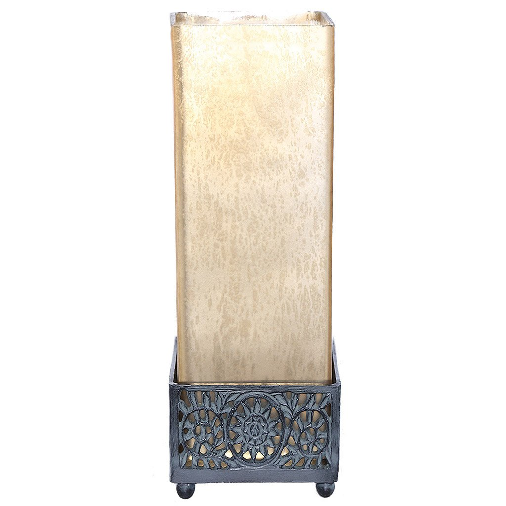 studio art mercury glass square uplight accent table lamps lamp matte champagne home improvement marble tops antique end tables with leather inlay fabric coffee game and chairs
