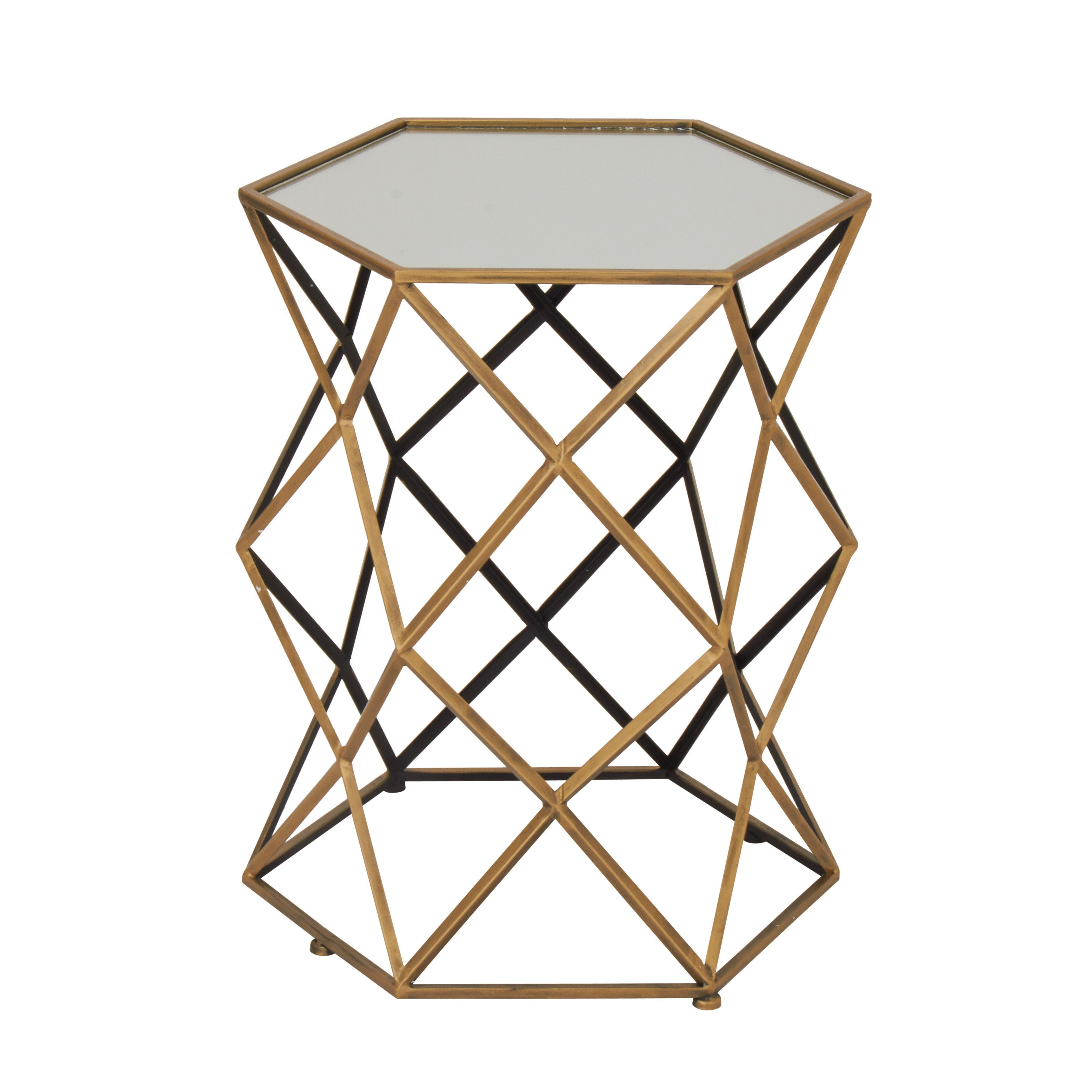 studio benzara metal mirror accent table multi black mirrored galvanized side slim console ikea target circular outside furniture silver drum large wood coffee cabinet drawers