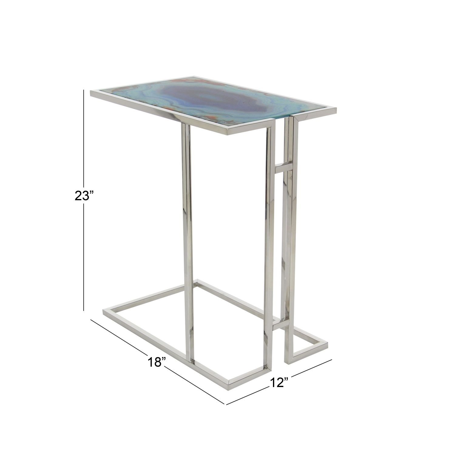 studio metal glass accent table inches wide high free shipping today shoe organizer target dining room wine rack diy bar jcpenney rugs clearance small round lamp tan plastic