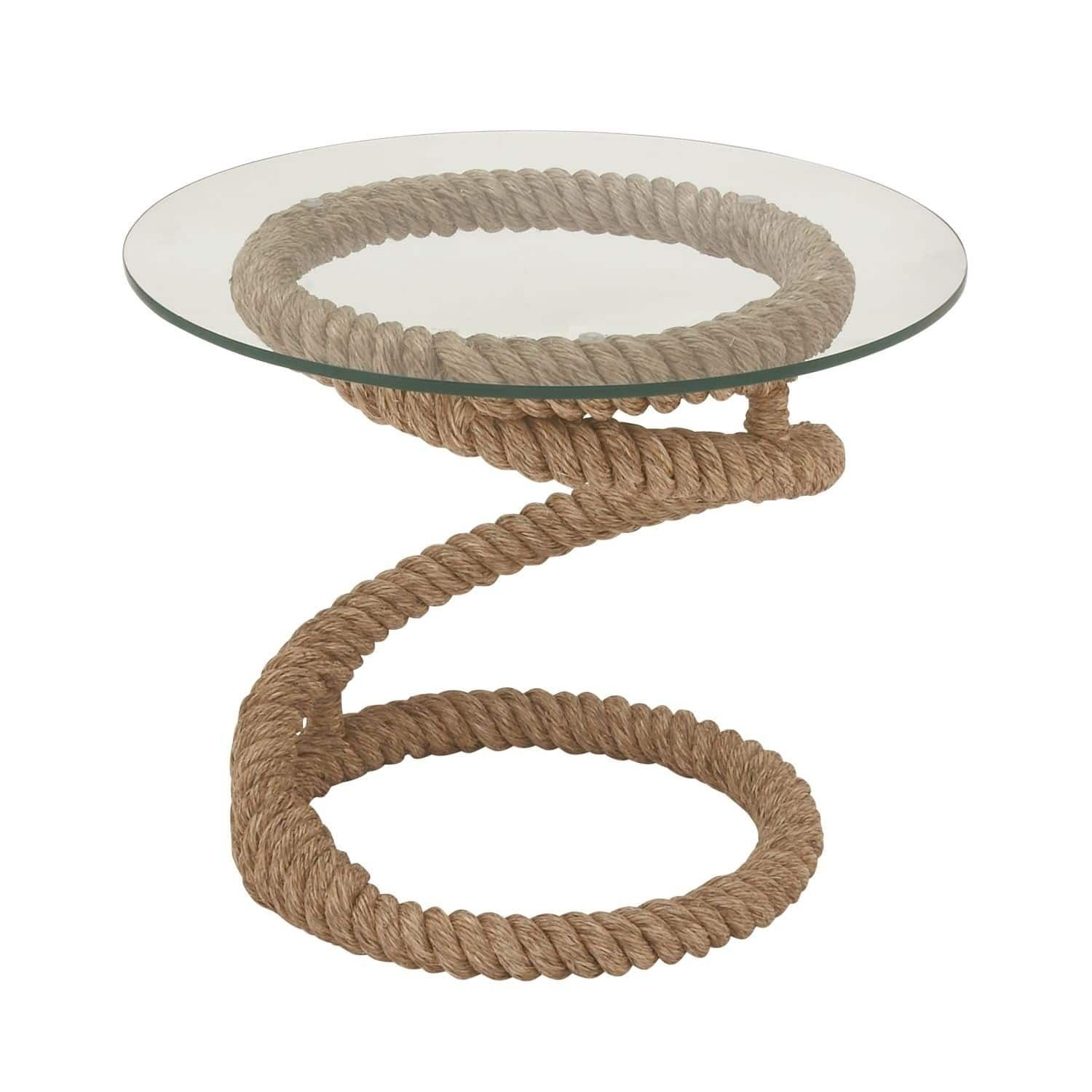 studio metal rope helix end table inches wide high bedford jute accent black and silver rug crystal bedside lamps clearance tables seagrass coffee target cocktail piece dining set