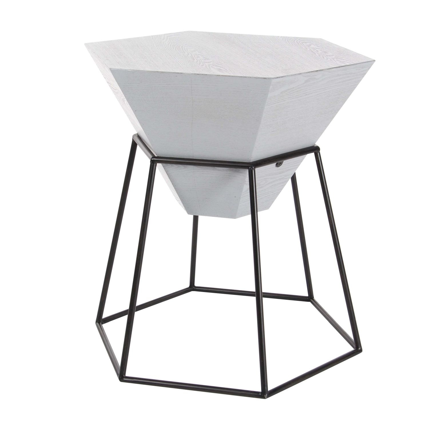 studio wood metal hex accent table inches wide high end tables free shipping today garden chairs set lamps glass coffee black farmhouse tablecloth for inch round brown patio