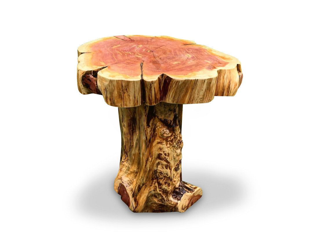 stump base slab top end table night stand knaughty log wood slice accent bistro cover outdoor mid century entry ikea outside storage and chairs with umbrella white cloth