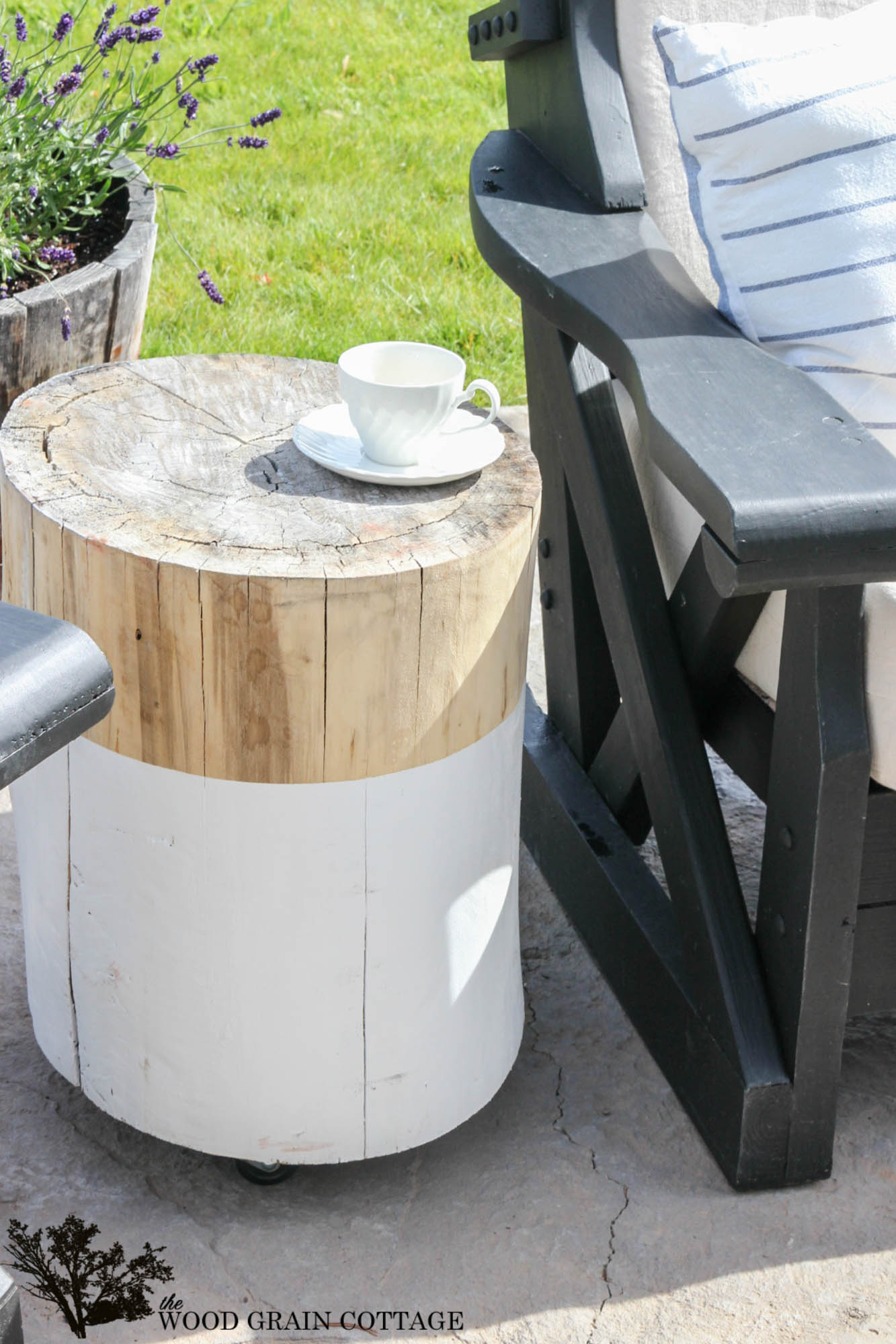 stump side table the wood grain cottage turn old into great outdoor full tutorial diy accent pearl drum stool entry benches furniture small couches for rooms cherry end tables