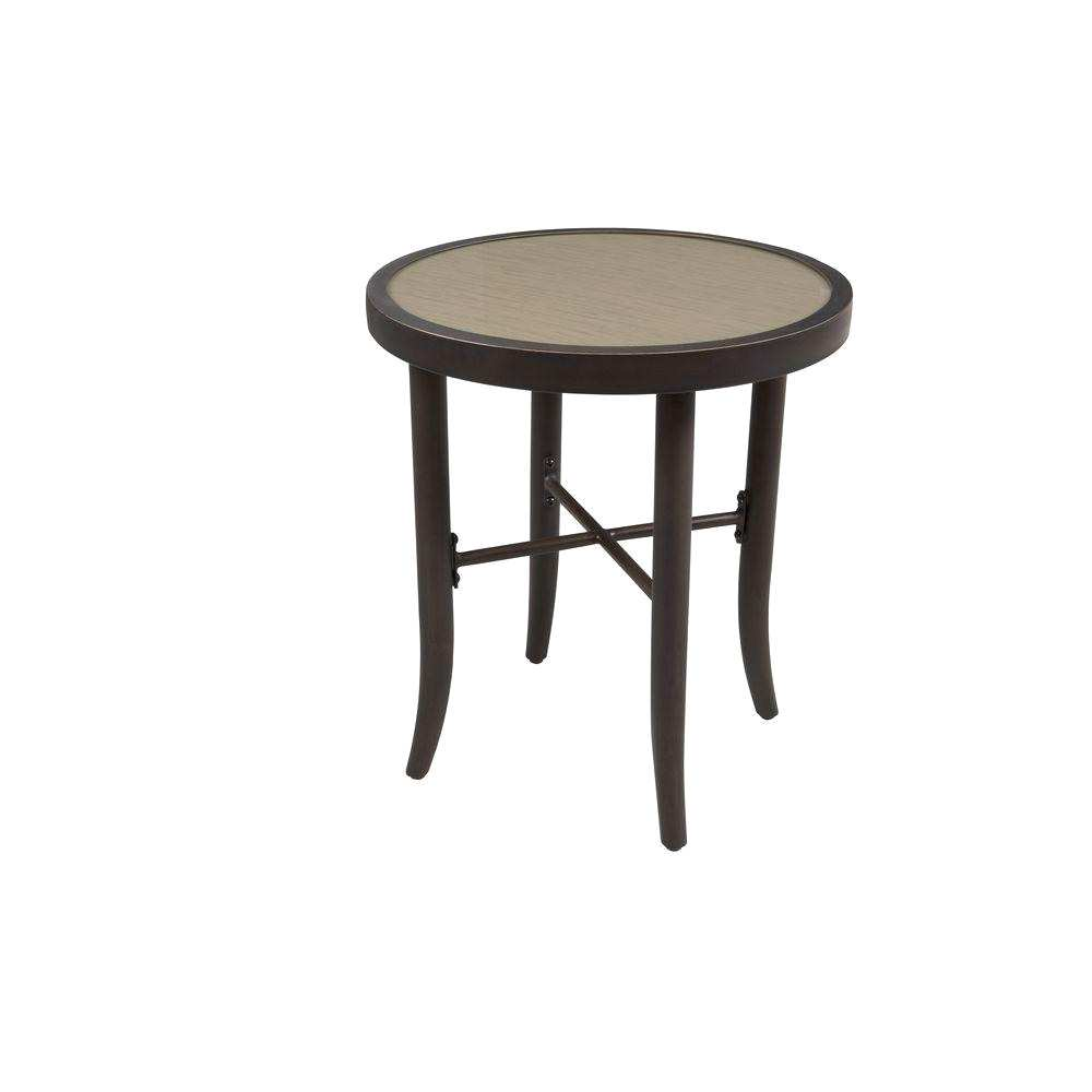 stunning outdoor patio side table hampton bay jackson aria fts the accent drum shaped bedside tables kitchen and chairs lift coffee ikea two drawer mirrored dining room furniture