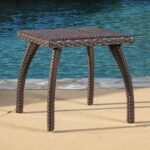 stunning outdoor wicker side table for source zen trendy woodridge brown accent stained glass standing lamp black and white decorations nic bench nesting sofa tables pedestal 150x150
