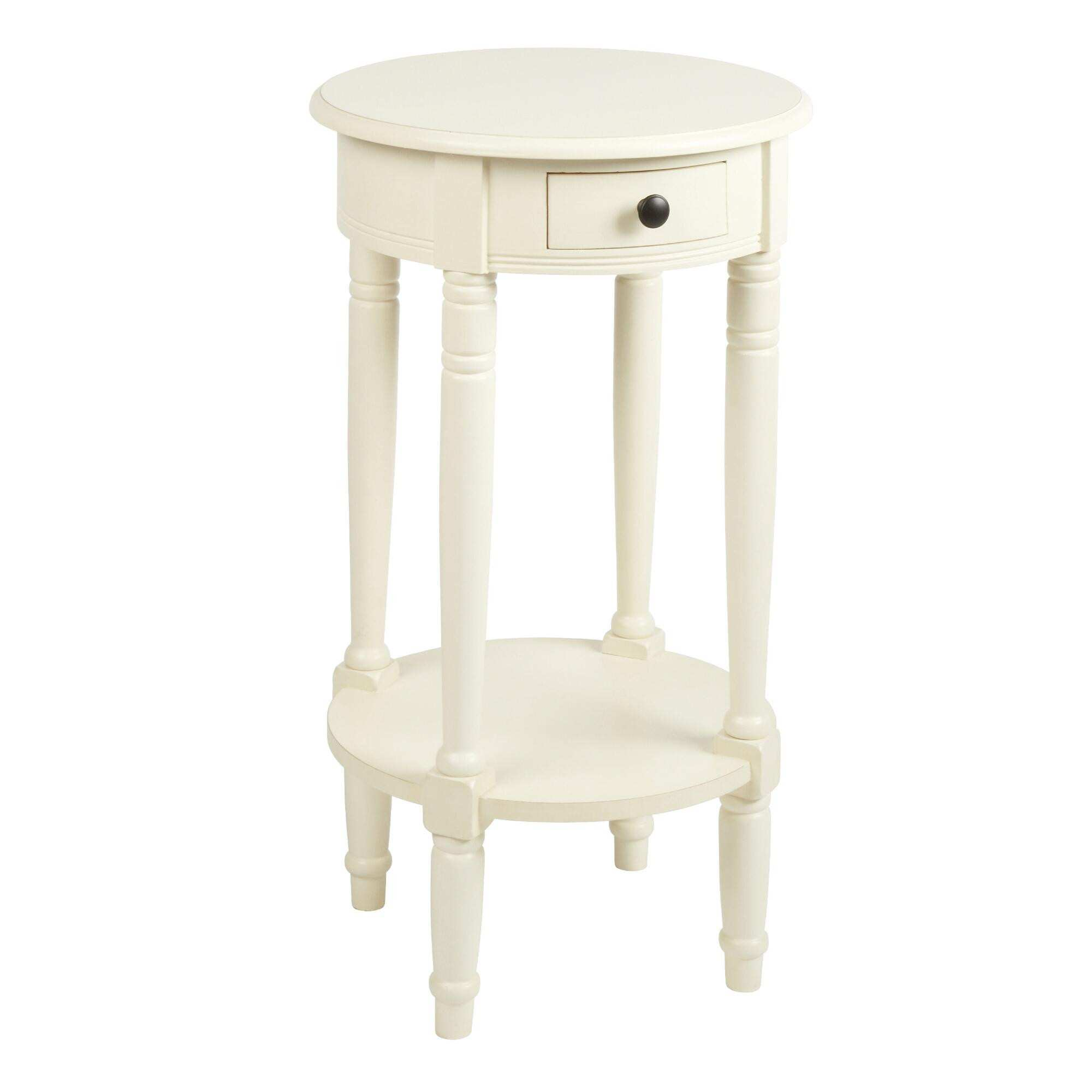 stunning white round accent table for painted mahogany wood luxury with drawer tipton pottery barn industrial coffee cool sofa tables small glass aluminum umbrella tall narrow apt