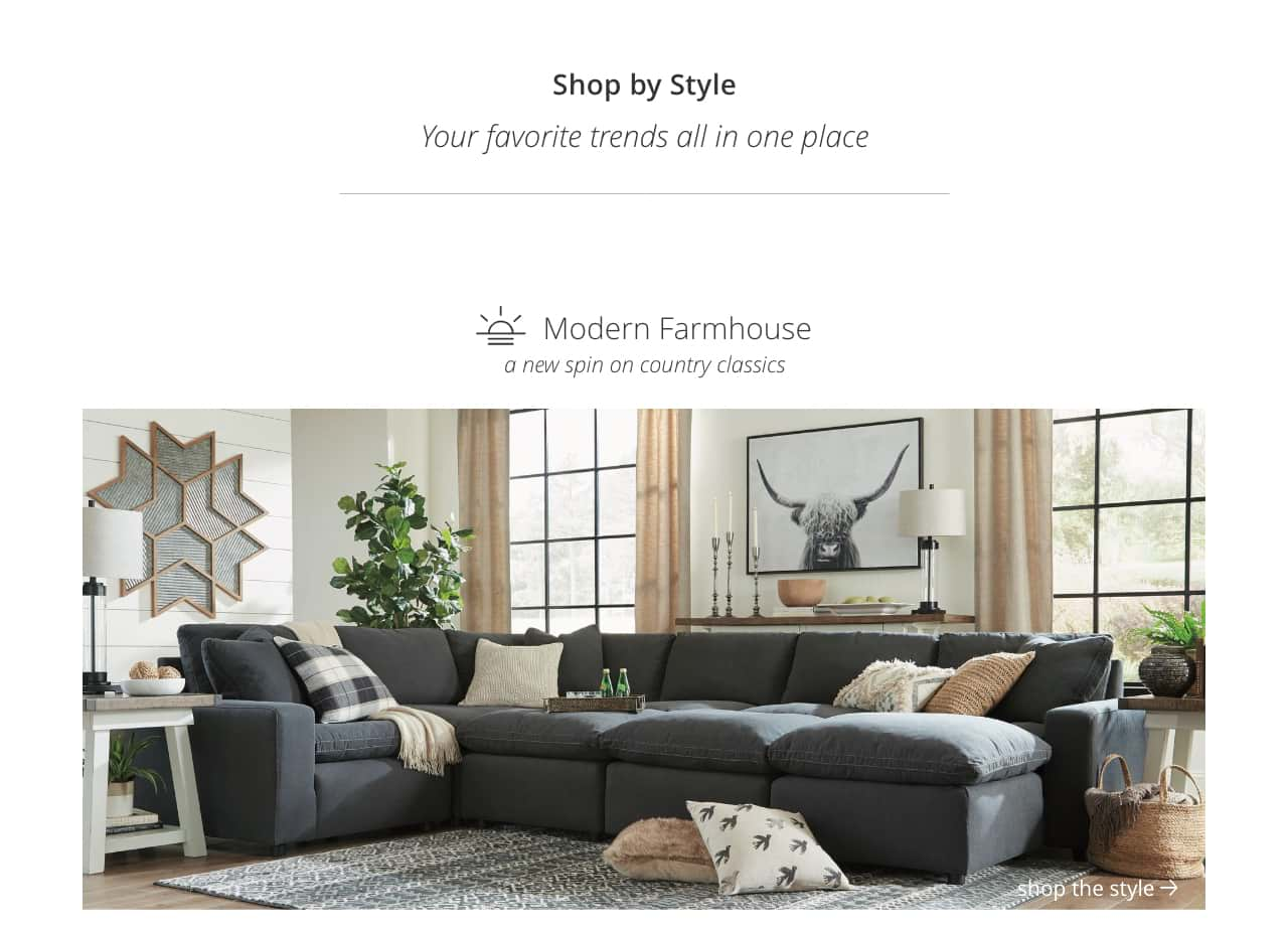 style home furnishings decor ashley furniture modern farmhouse accent table new spin country classics john lewis side tables rustic outdoor west elm collection mission coffee