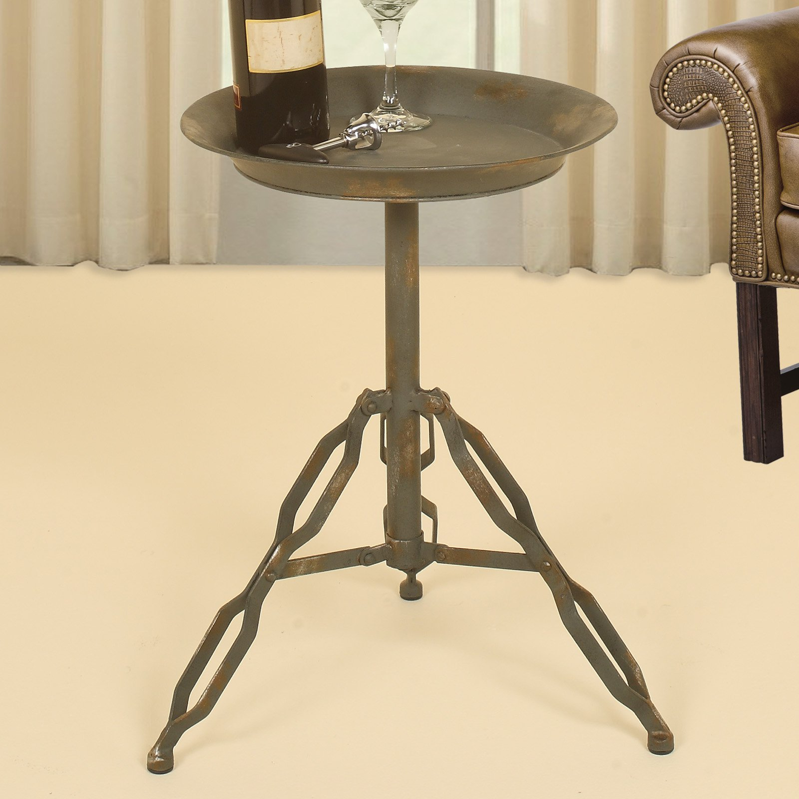 style industrial accent table vintage luxury life farm tures with wine rack underneath couch ikea small gray coffee acrylic side tables living room inch round plastic tablecloths