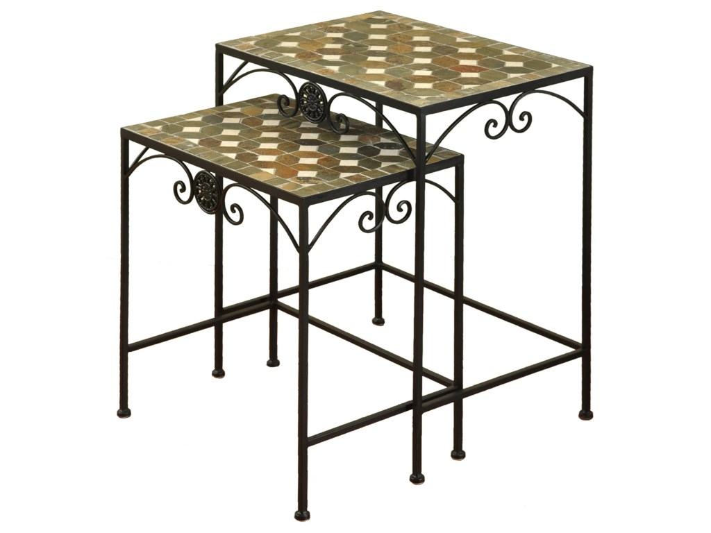 stylecraft occasional tables set two wrought iron nesting products color threshold mosaic accent table tablesset windham door cabinet kmart kids garden storage box battery