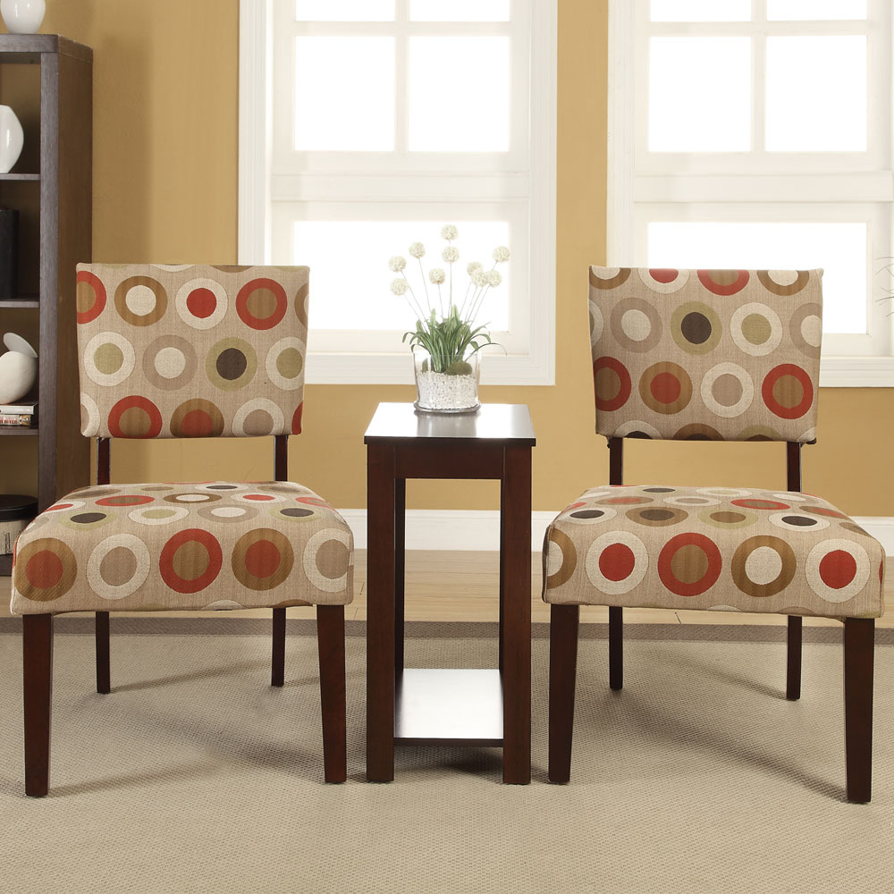 stylish accent chair and table set with striped chairs collection pieces occasional side fabric piece small round pedestal hollywood glam furniture tablecloths contemporary