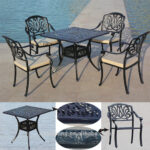 stylish and peaceful heb patio furniture modern royal waterproof cast aluminum outdoor garden table chair clearance riata wood side creative ideas tag archived bar chairs cool 150x150