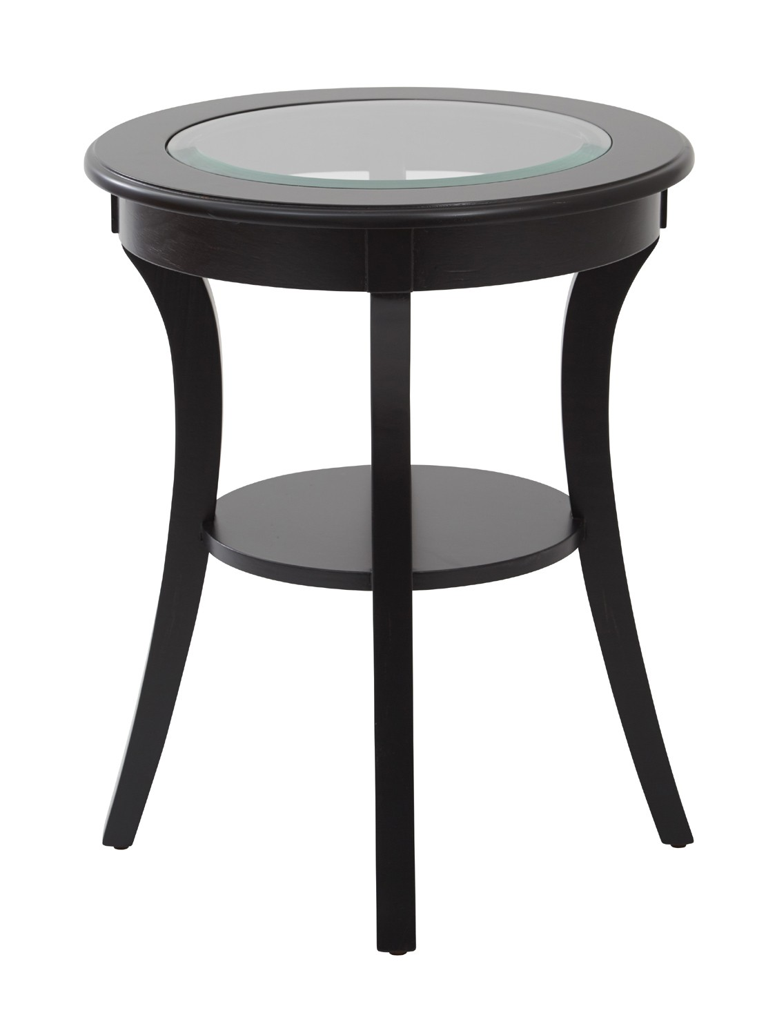 stylish black round accent table with office star harper glass top brushed counter high dining room sets kmart furniture bedroom small stackable tables mirror end legs wood