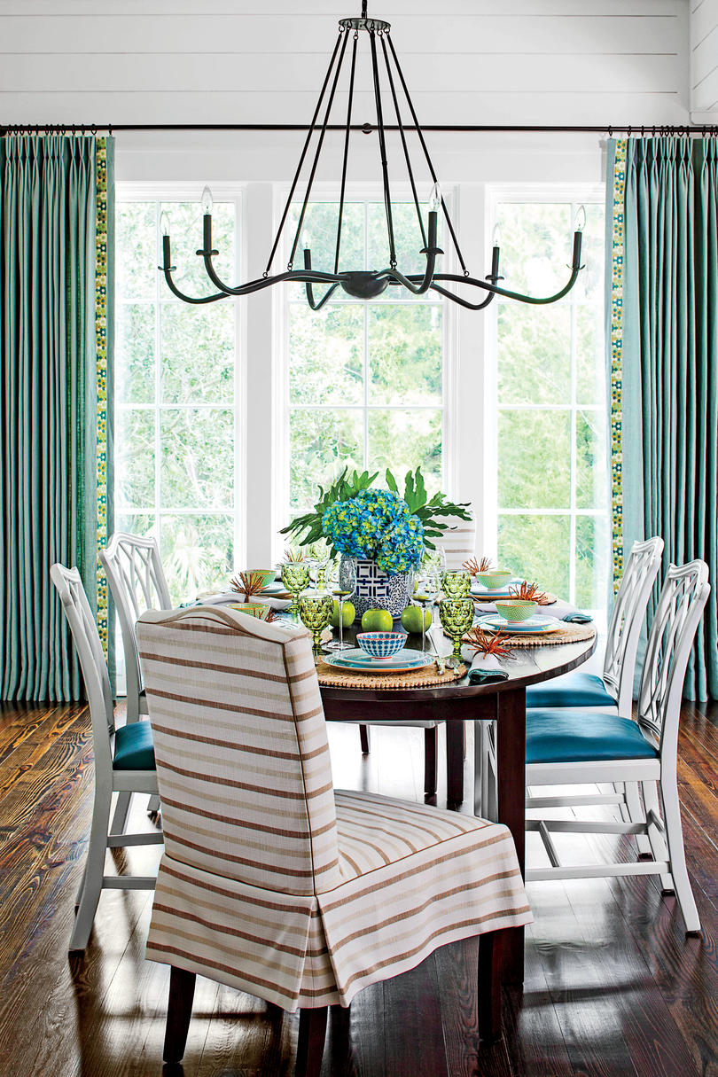 stylish dining room decorating ideas southern living coastal lowcountry accent pieces for table skinny behind couch diy wood tripod lamp counter height sofa farm thin white