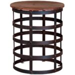 stylish drum accent table with cabinets contemporary metal brilliant kitchen exciting ideas about side tables metallic outdoor teal bedroom chair brown leather dining chairs 150x150