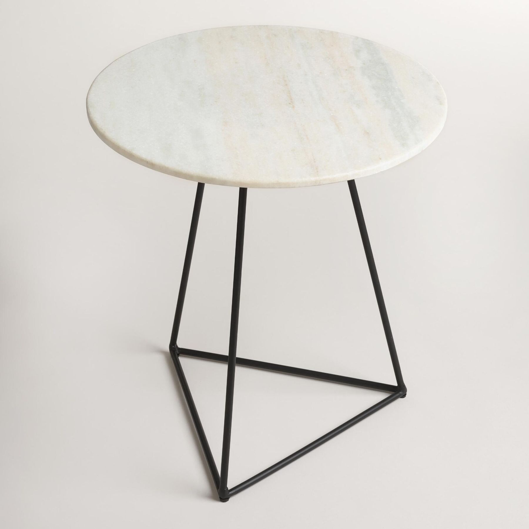 stylish side tables under things for home table living small metal accent with round white marble top and black steel base leather ott coffee ashley chairside modern dining room