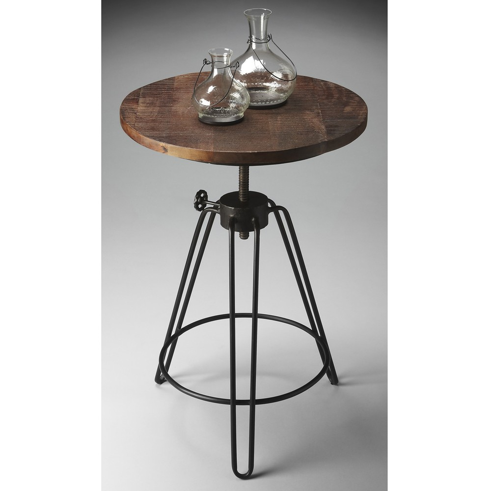 stylish wrought iron accent table with vintage tile elegant designs metal inch round topper small deck black entryway storage oak lamp tables for living room seattle lighting