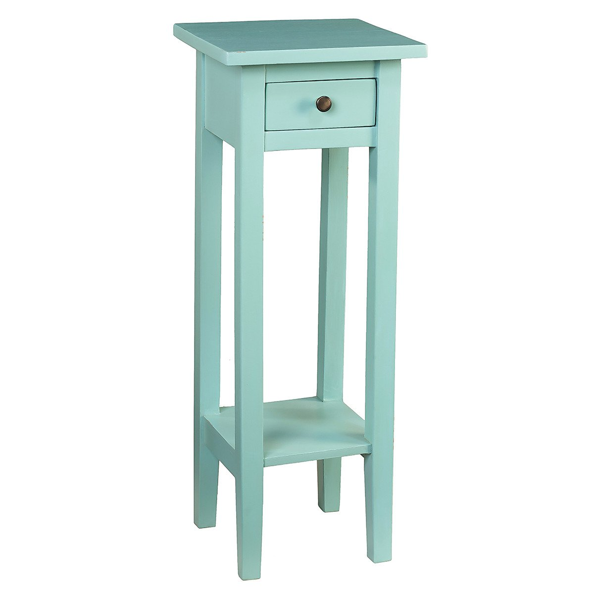 sumatra pedestal table serenity blue wrightwood furniture limpet shell fretwork accent sofa and end tables hand painted square fall tablecloth cylinder side cloth entryway patio