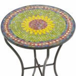 sunflower mosaic accent table pier imports bombay tables half round circular glass side ethan allen ballan oval coffee with shelf threshold teal home ornaments bunnings chairs and 150x150
