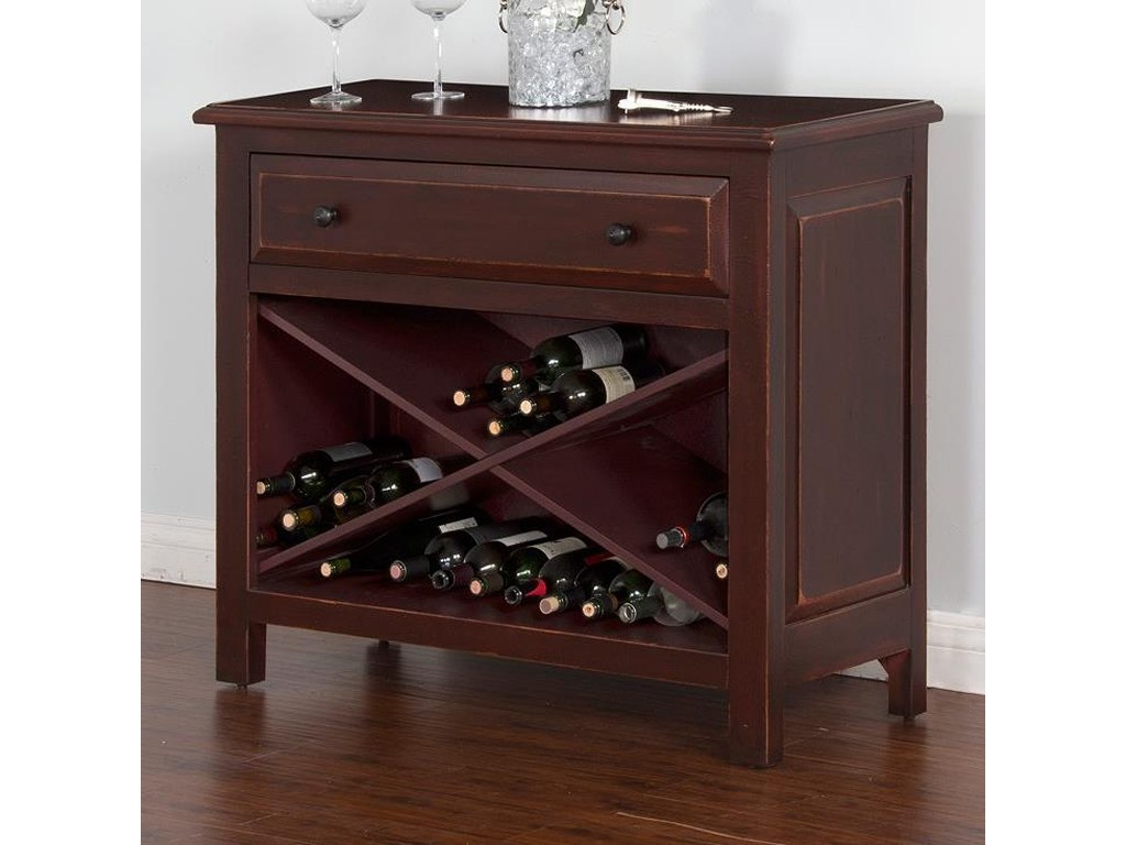 sunny designs red accent chest wine storage and drawer products color threshold table quatrefoil wood black solid coffee end ideas pier dining legs target metal aluminum lawn