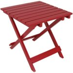 sunnydaze decor red square wood outdoor side table the home tables accent large round dining carpet edge strip tablecloth for silver coffee tray bistro and chairs hairpin desk 150x150