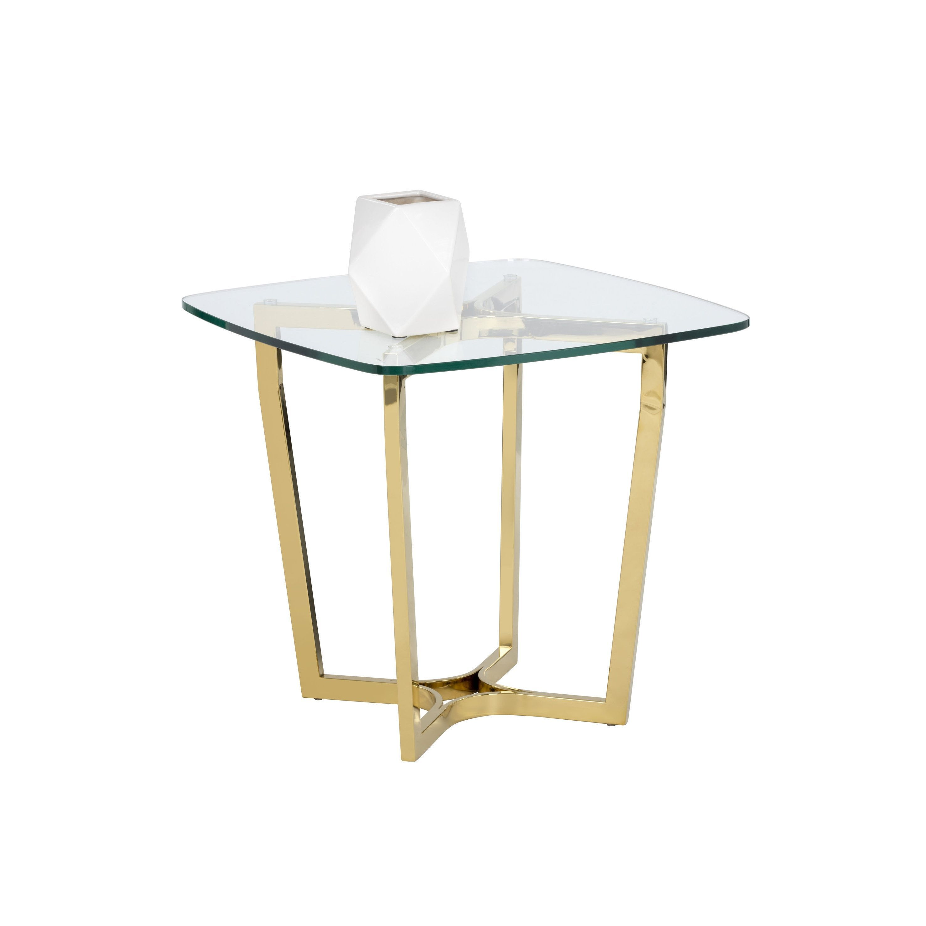 sunpan archer glam glass accent table end gold commercial patio sofa autumn tablecloth coloured coffee provence chalk paint ashley furniture dining chairs metal console wine rack