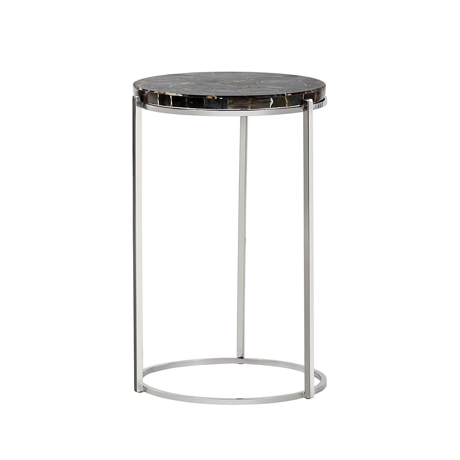 sunpan modern tillie end table black agate kitchen bgl glass accent dining plexiglass coffee top jacket hoodie round wood nesting tables lamp with usb port metal home decor cement