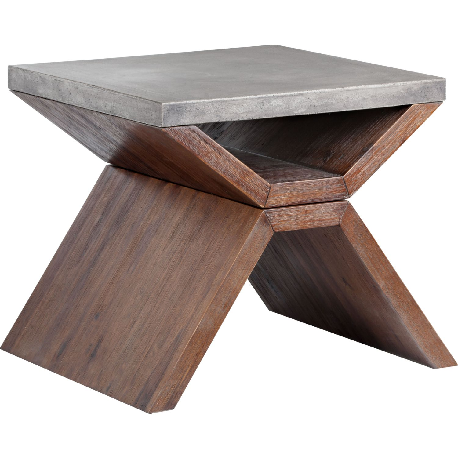 sunpan vixen end table concrete top acacia wood base accent dining room sofa tablecloth for round gray outdoor side furniture bedside tables penny tiffany style chandelier ashley