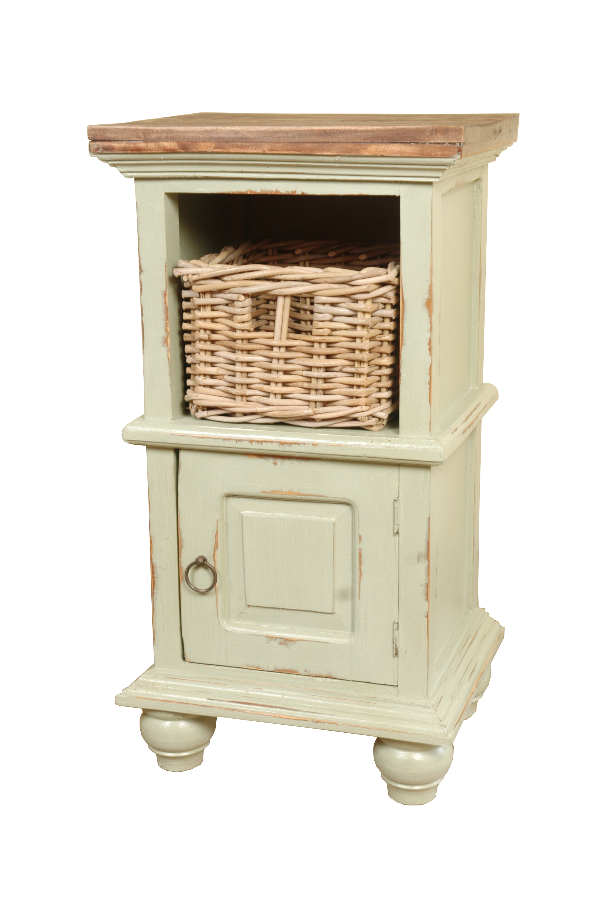 sunset trading cottage end table with basket hooker accent baskets wicker decorative storage cabinet doors pub set tall bedside tables drawers ashley coffee and inch narrow depth