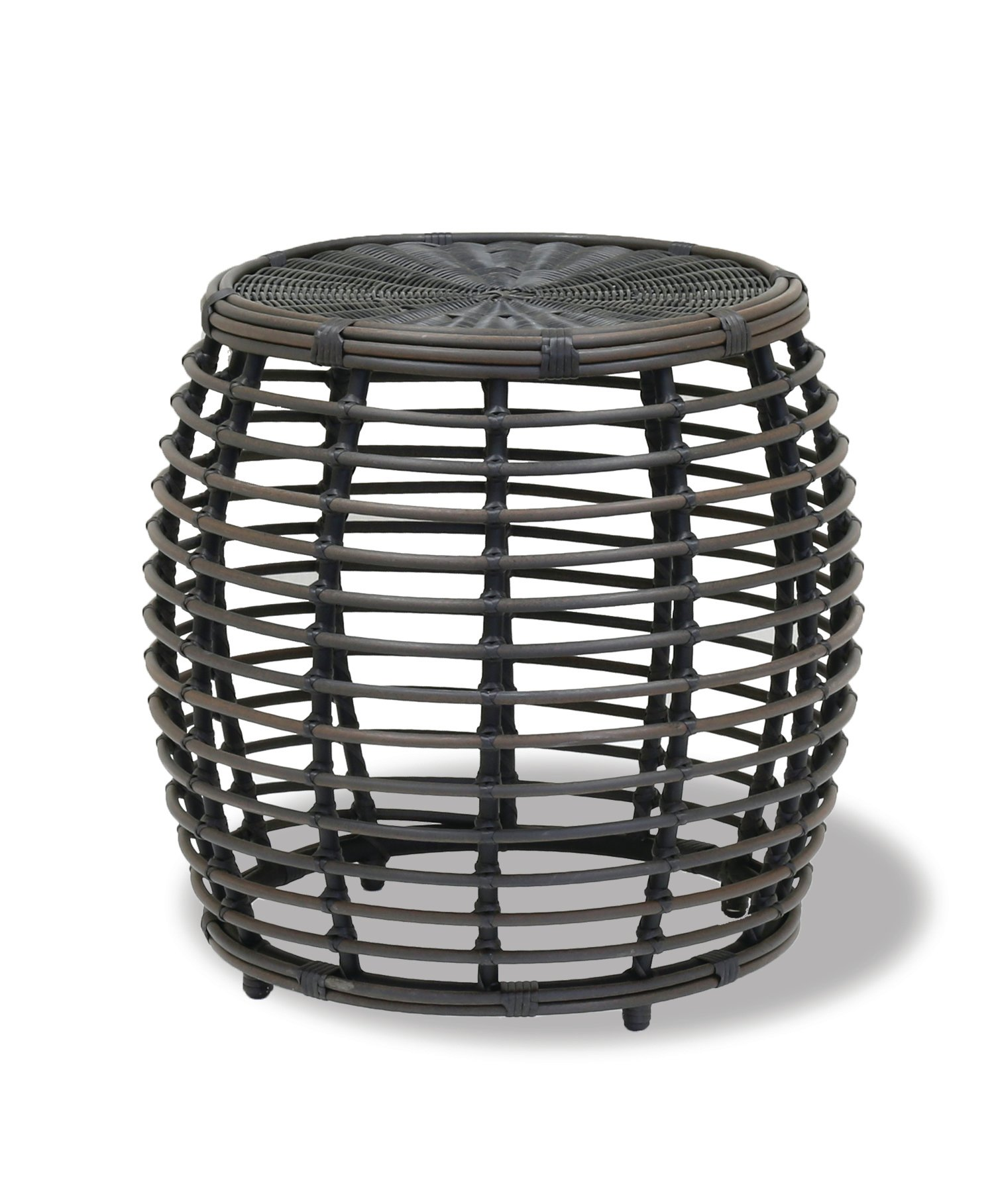 sunset west venice round wicker side table outdoor quirky bedside tables gold accent set pub style height cube furniture steel coffee legs floor transitions for uneven floors