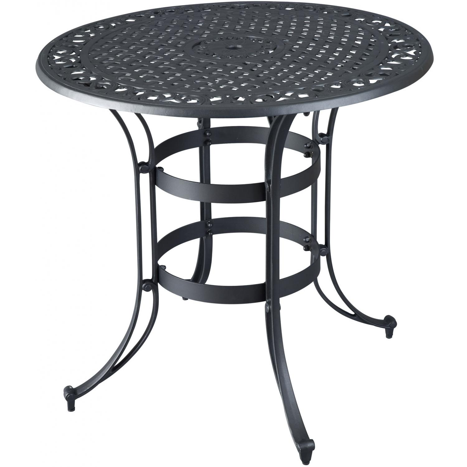 superb black metal patio table high top bistro accent marble half round kitchen retro lounge furniture living room trunk small decorative lamps circle coffee rod iron frame with