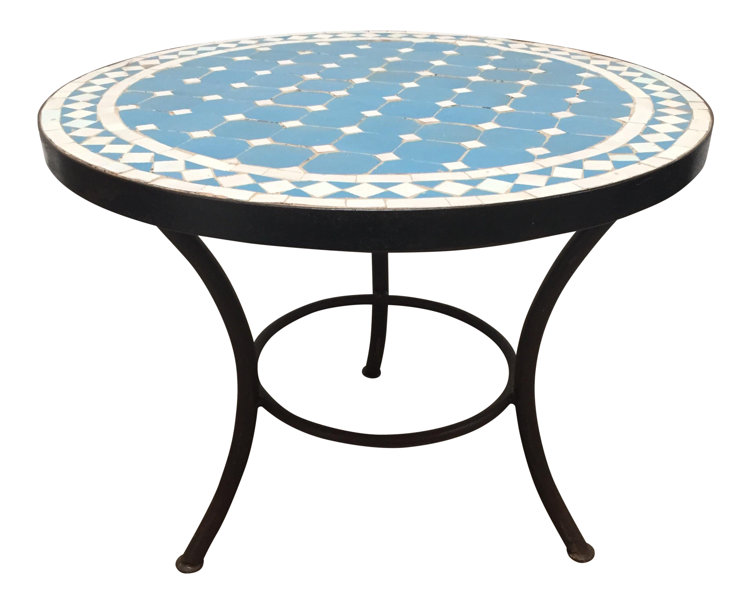superb moroccan mosaic outdoor blue tile side table low iron base decaso yellow lamp rattan drinks simple plans metal outside modern sofa kirklands bar stools plexiglass coffee