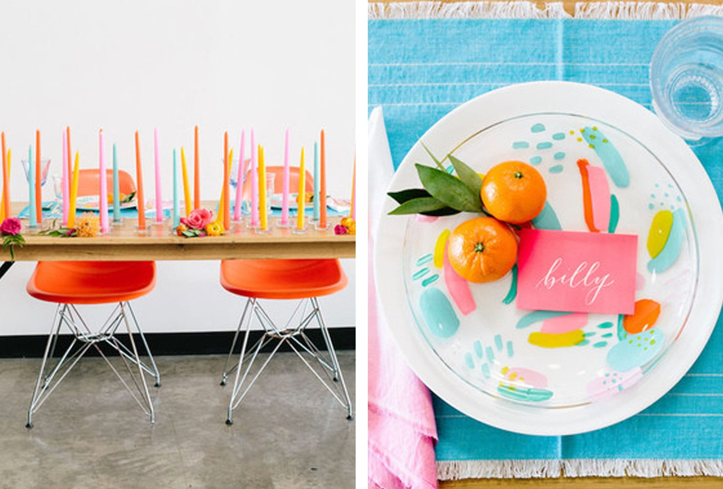 sweetheart table ideas for every season shutterfly modern brightness accent your focus runner with brightly colored candles and chairs clementine accents desk chair target curtain